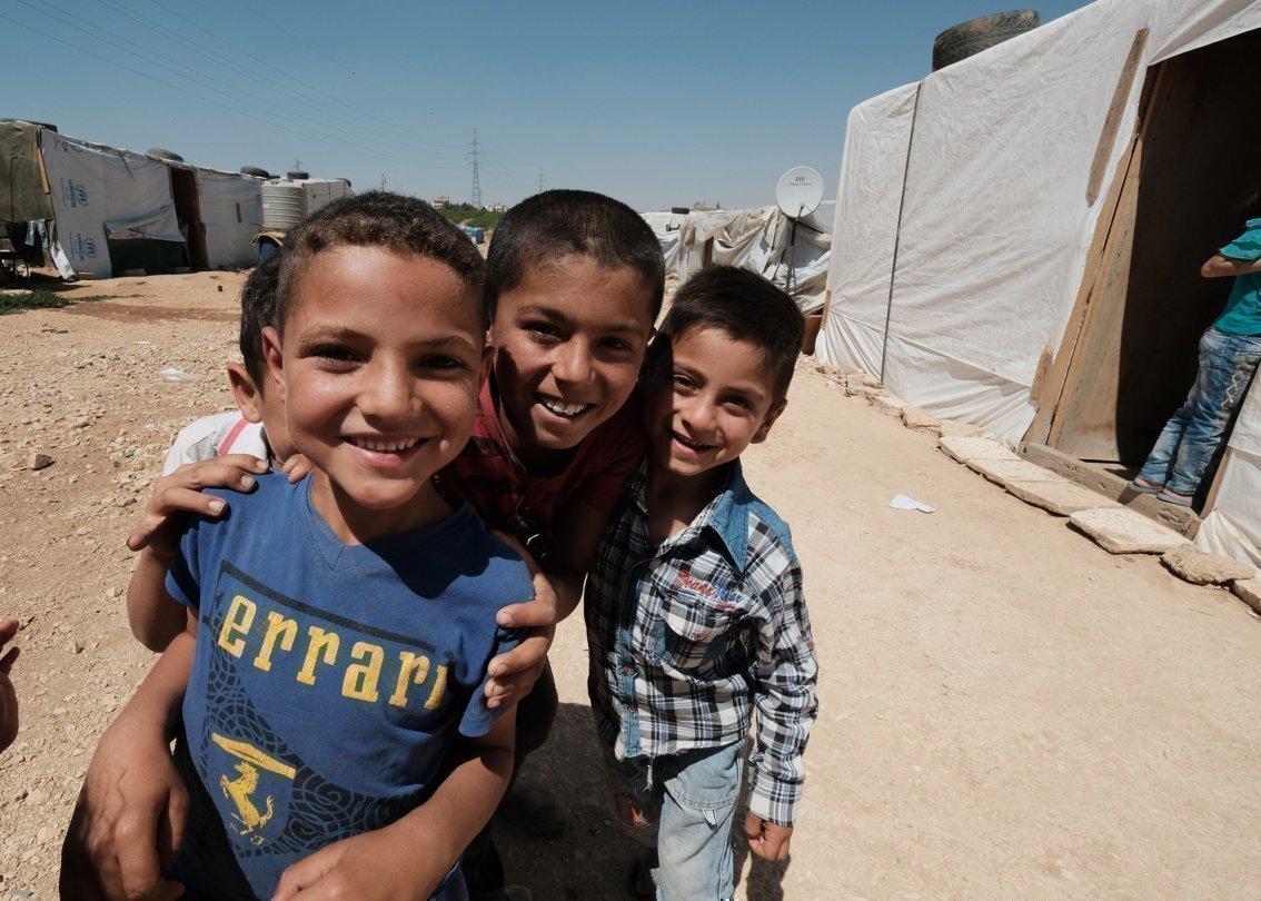 Un gruppo di ragazzi in Siria.