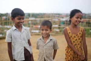 Kinder auf der Flucht in Bangladesch